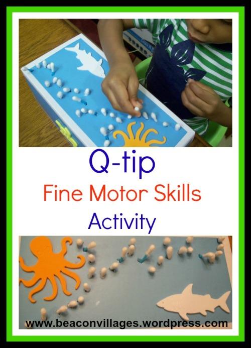 q-tip fine motor skills